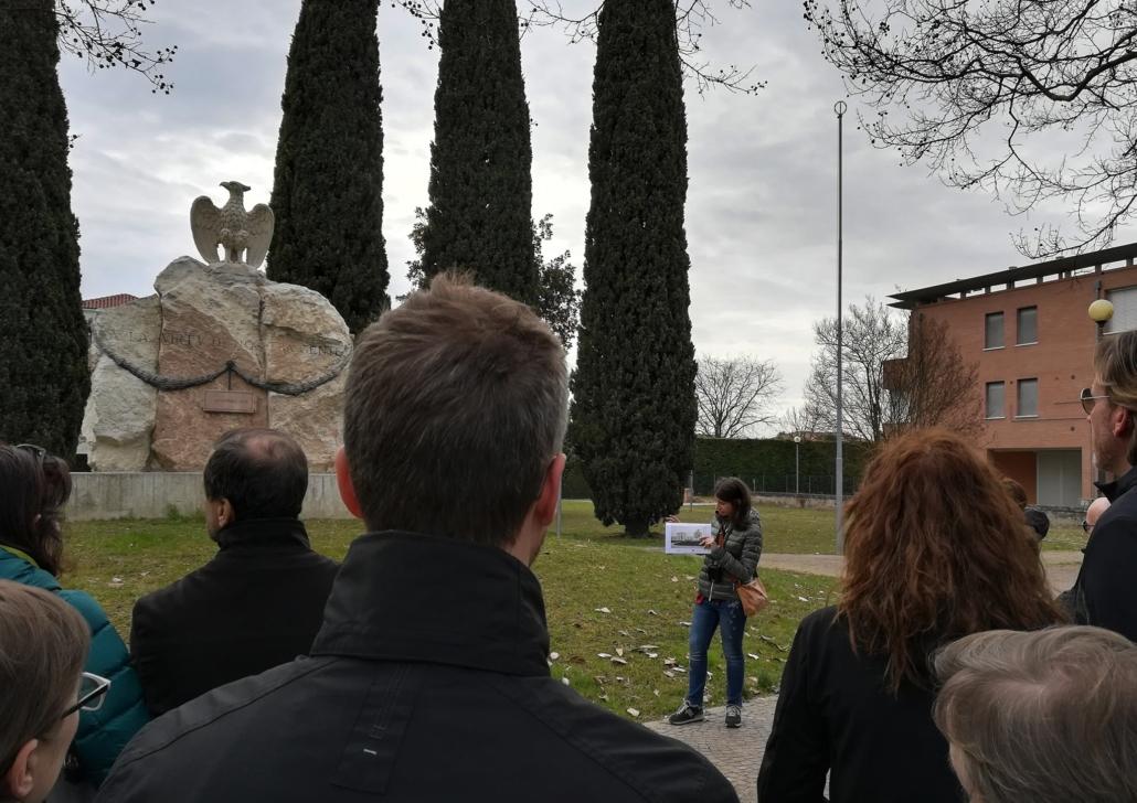 passeggiata patrimoniale - monumento ai caduti - Piazzola sul Brenta - eKta aps