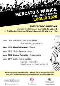Mercato & Musica- programma luglio 2020