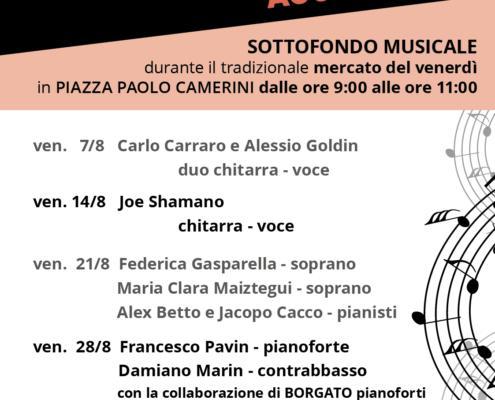 programma agosto - rassegna MERCATO & MUSICA