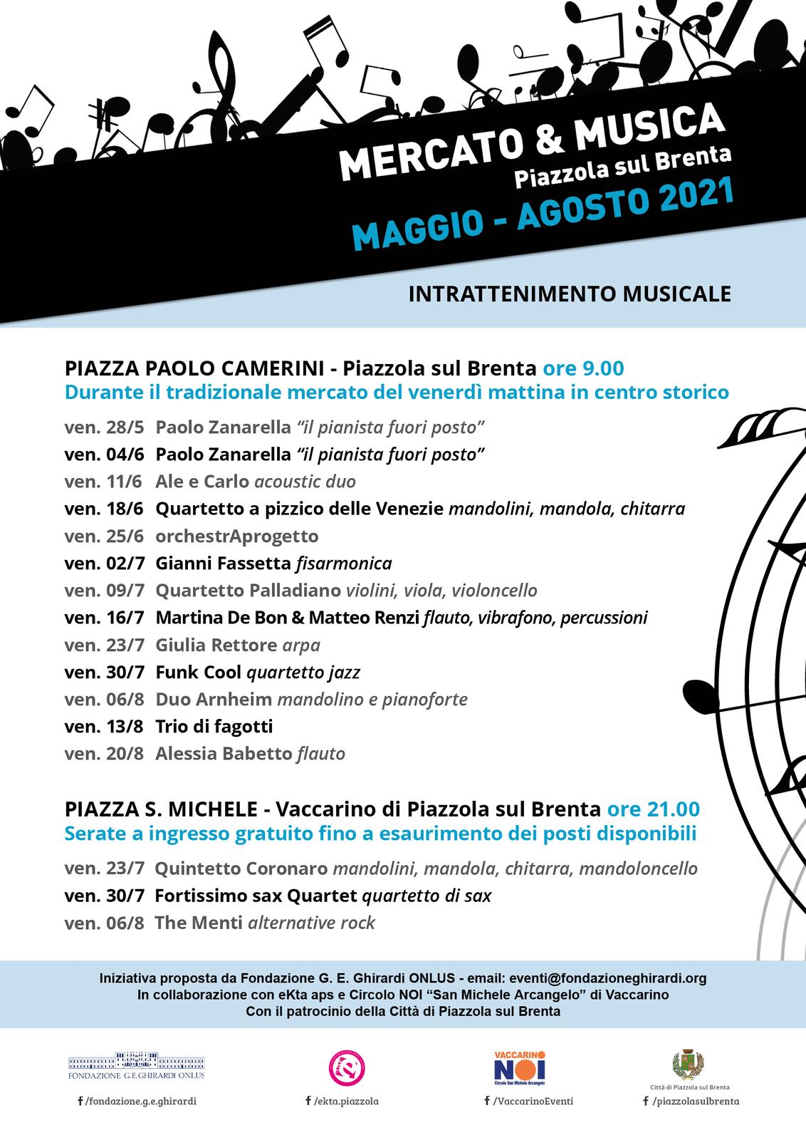 MERCATO & MUSICA programma 2021